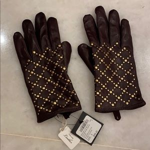 Italian Leather Gloves with wool & cashmere lining